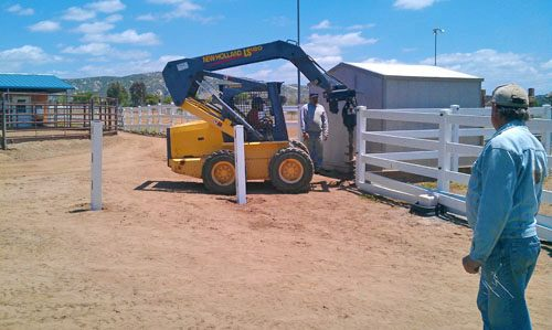 The Guys Building Horse Fencing in Ramona, CA